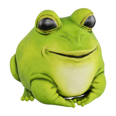 Pure Garden Chubby Frog Statue