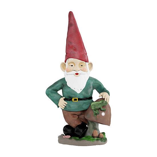 Pure Garden Lawn Gnome Resin Statue