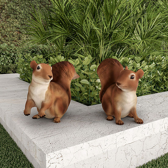 Pure Garden Set of Two Squirrel Statues