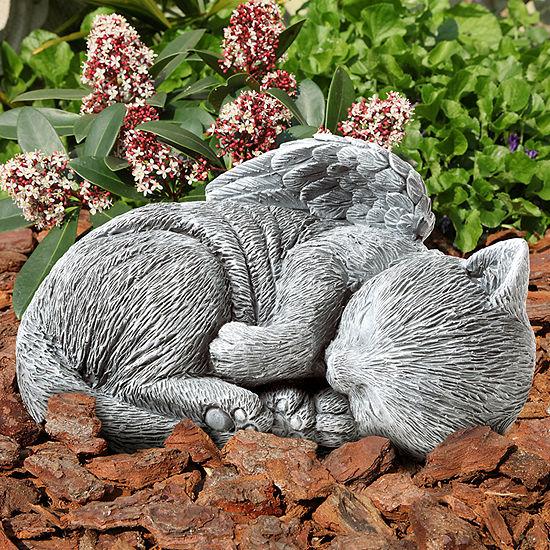 Pure Garden Sleeping Angel Cat Keepsake Memorial Statue