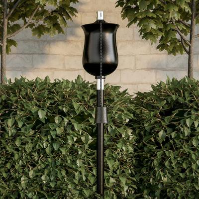 "Pure Garden 45"" Large Metal Outdoor Fuel Torch Lamp"