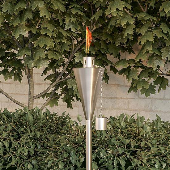 Pure Garden Stainless Steel Garden Torch