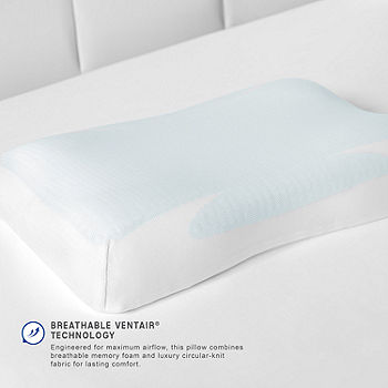 Cuscino Memory Foam Permaflex.Sensorpedic Gelmax Cooling Comfort Memory Foam Pillow Jcpenney Color White