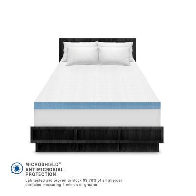 """SensorPEDIC® Supreme Cool Gel Cooling 4"""" Memory Foam Topper"""