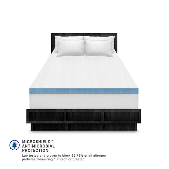 "SensorPEDIC® Supreme Cool Gel Cooling 4"" Memory Foam Topper"