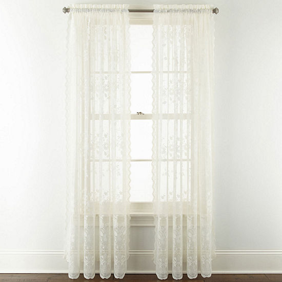 Home Expressions Sheer Rod-Pocket Set of 2 Curtain Panel