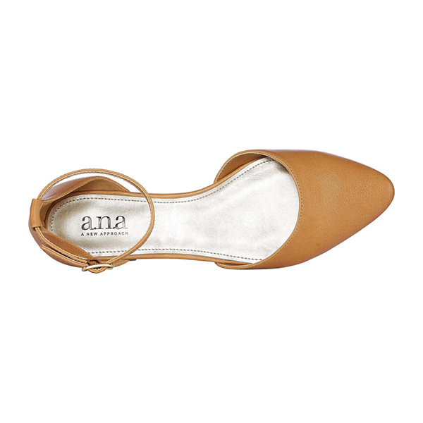 a.n.a Womens Darell Buckle Closed Toe Ballet Flats
