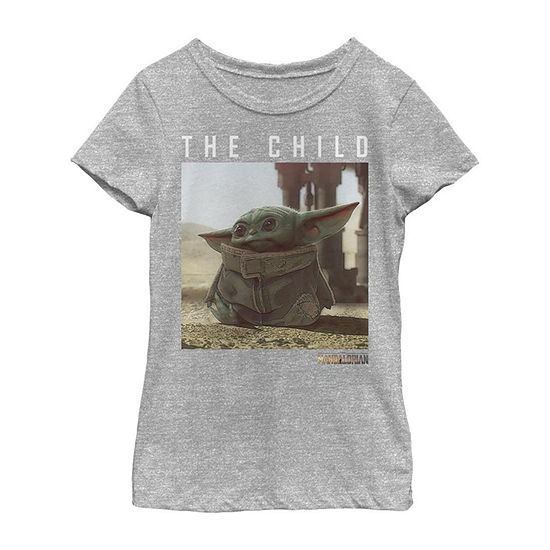 Mandalorian The Child Girls Crew Neck Short Sleeve Star Wars T-Shirt Preschool / Big Kid