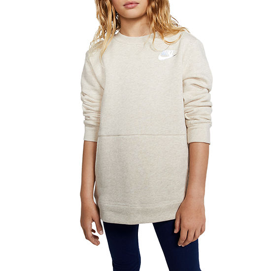 Nike Girls Crew Neck Long Sleeve Sweatshirt - Big Kid
