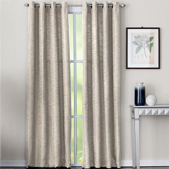 Miller Curtains Yasmine Energy Saving Blackout Grommet-Top Single Curtain Panel