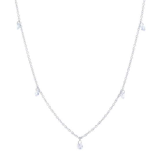 Silver Reflections Pure Silver Over Brass 36 Inch Cable Chain Necklace