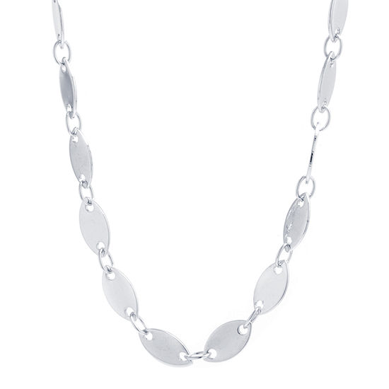 """Silver Reflections Pure Silver Over Brass 16-48"""" Link Chain Necklace"""