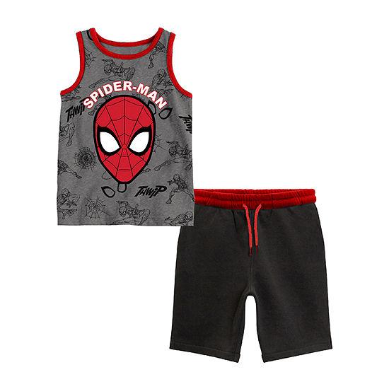Toddler Boys 2-pc. Spiderman Short Set