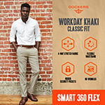 Dockers® Men's Classic Fit Workday Khaki Smart 360 Flex Flat Front Pant D3