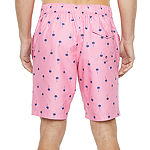 "St. John's Bay Printed Micro Fiber 10"" E-Board Swim Short"