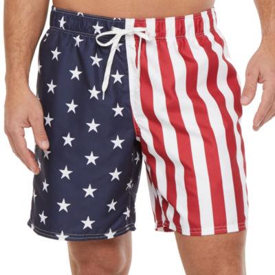 City Streets Americana Star Swim Trunks - Men's