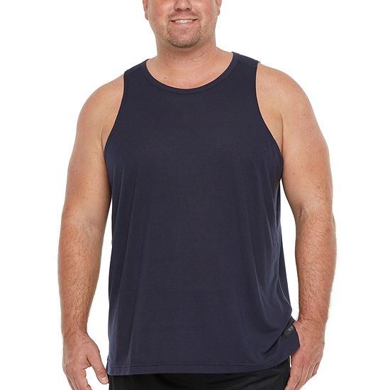 Msx By Michael Strahan Big and Tall Mens Crew Neck Sleeveless Tank Top