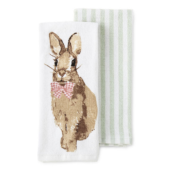 JCPenney Home Bunny 2-pc. Kitchen Towel
