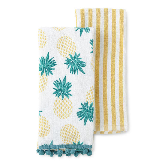 JCPenney Home 2-Pc. Pineapple 2-pc. Kitchen Towel
