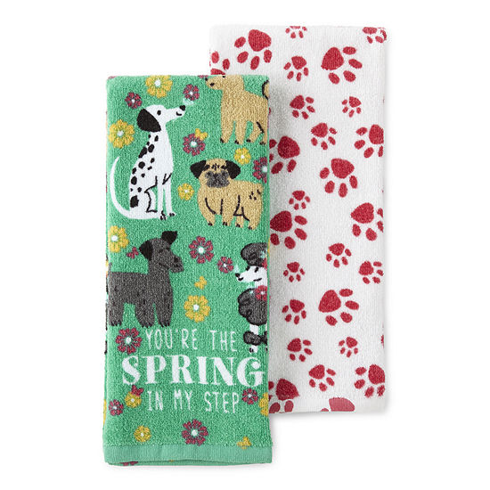 JCPenney Home 2-Pc. Spring 2-pc. Kitchen Towel