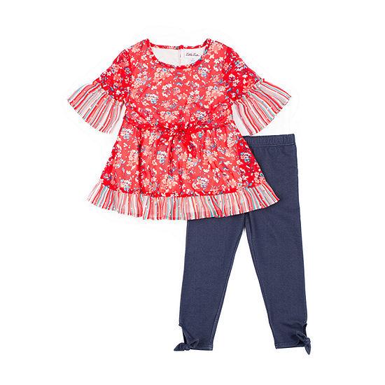 Little Lass Girls 2-pc. Legging Set-Toddler