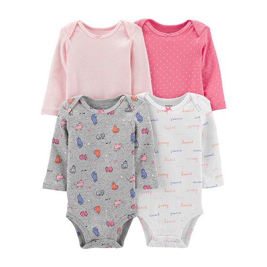 Carter's Girls 4-pc. Bodysuit-Baby