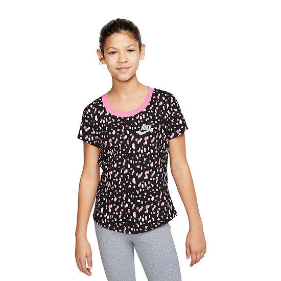 Nike Graphic Tee Girls Crew Neck Short Sleeve Graphic T-Shirt - Big Kid