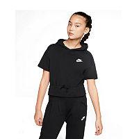 Nike Big Girls Hoodie, X-large , Black