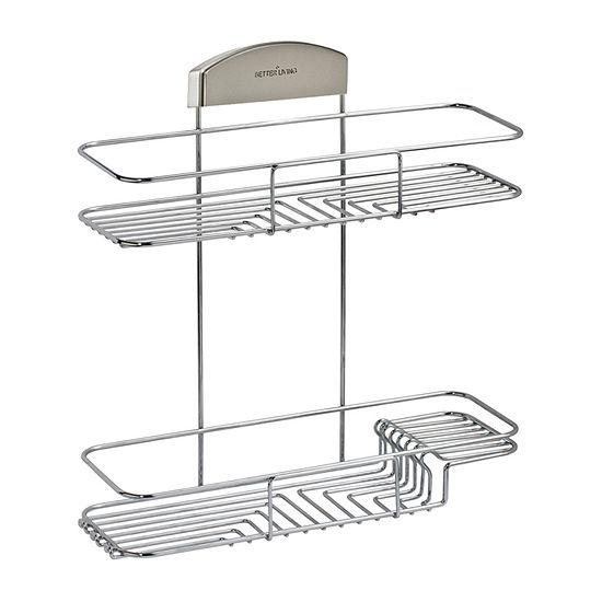 Better Living STORit 2-Tier Shower Basket Stainless Steel