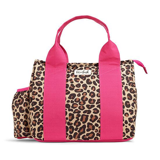 Fit & Fresh Sanibel Cheetah Lunch Set 3-pc. Lunch Bag