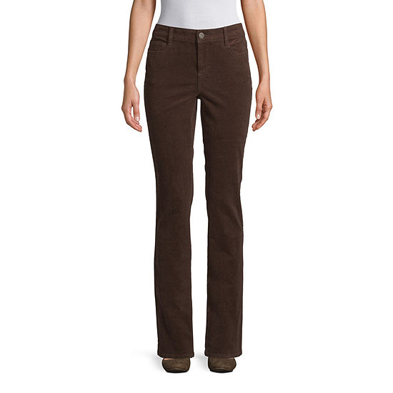 St. John's Bay Womens Straight Corduroy Pant - Tall