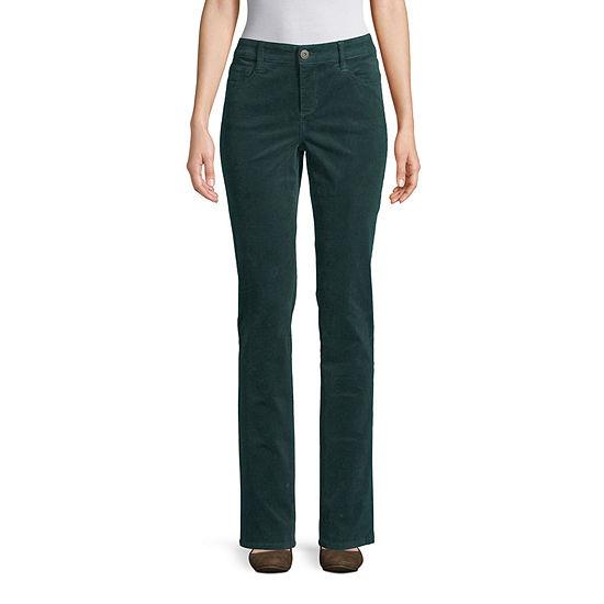 St. John's Bay Womens Straight Corduroy Pant - Tall