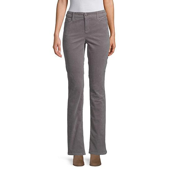 St. John's Bay Womens Bootcut Corduroy Pant - Tall