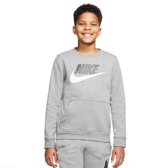 Nike Big Boys Crew Neck Long Sleeve Sweatshirt