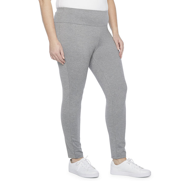 Stylus Plus Womens Mid Rise Full Length Leggings