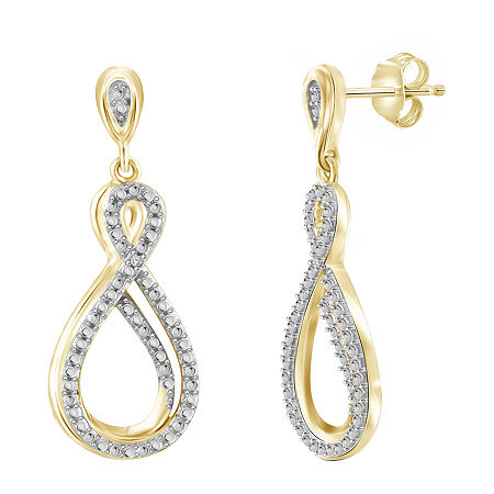 Diamond Accent White Diamond 14K Gold Over Brass Round Earring Jackets, One Size