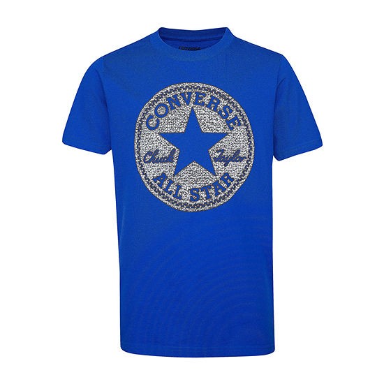 Converse Big Boys Crew Neck Short Sleeve Graphic T-Shirt