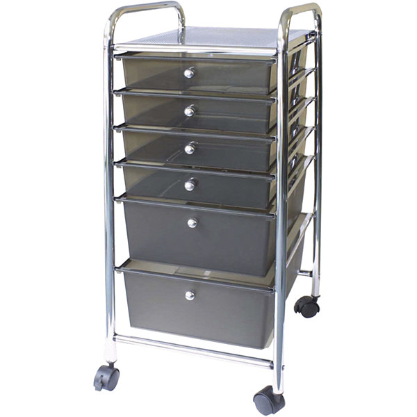 Cropper Hopper Smoke 6-Drawer Rolling Cart