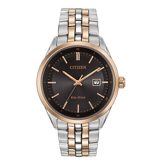Citizen Corso Mens Two Tone Stainless Steel Bracelet Watch - Bm7256-50e