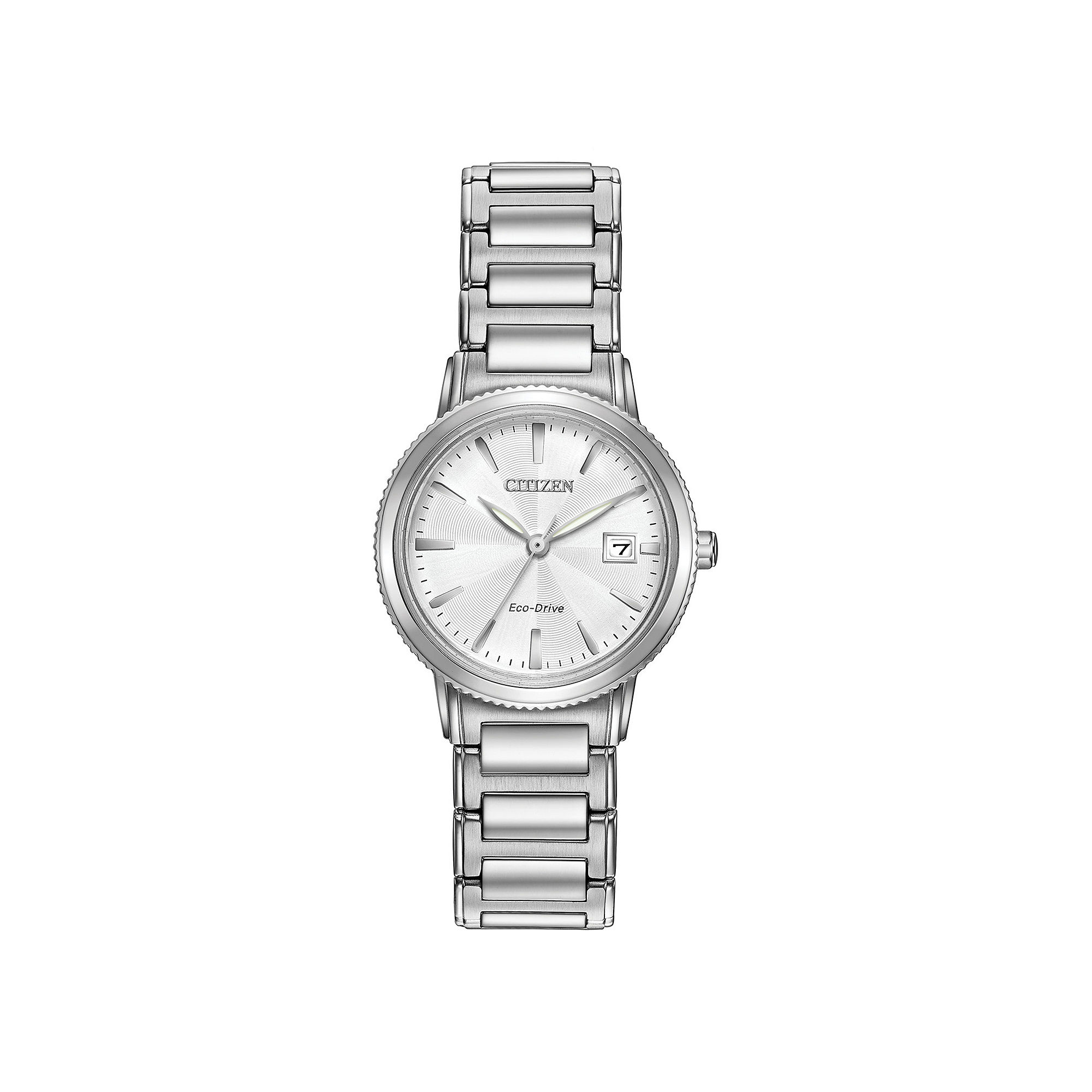 Citizen Eco-Drive Silhouette Sport Womens Stainless Steel Bracelet Watch EW2370-57A