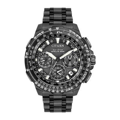 Citizen® Eco-Drive Promaster Navihawk Mens World Time GPS Black Titanium Strap Watch CC9025-85E
