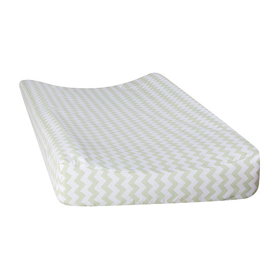 Trend Lab Sea Foam Chevron Changing Pad Cover