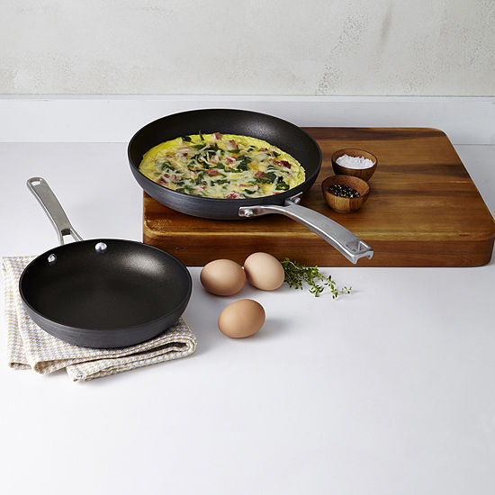 """Calphalon® Classic Hard-Anodized Nonstick 8"""" & 10"""" Frypan Combo Pack"""