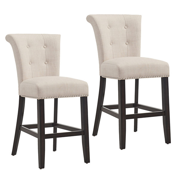 Selma Tufted Upholstered Counter Stool- Set of 2
