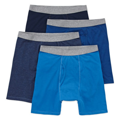 Stafford Blended Cotton 4 Pair Boxer Briefs-Big