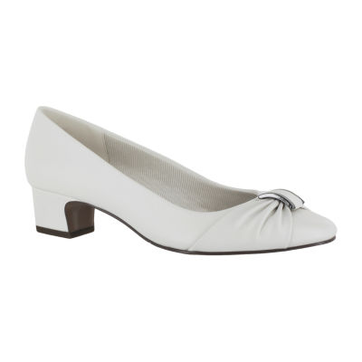 Easy Street Eloise Womens Pumps-Wide Slip-on Round Toe Block Heel
