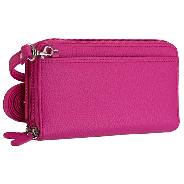Buxton Zip Organizer Crossbody Wallet