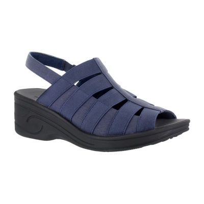 Easy Street Floaty Womens Wedge Sandals Extra Wide