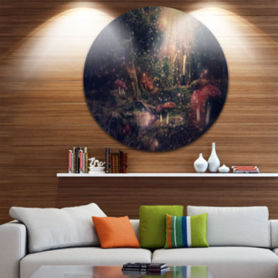 Design Art Abstract Collage Art Disc Abstract Circle Metal Wall Art