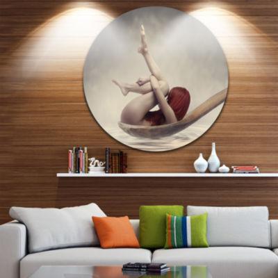 Design Art Beauty Bath Disc Contemporary Circle Metal Wall Art